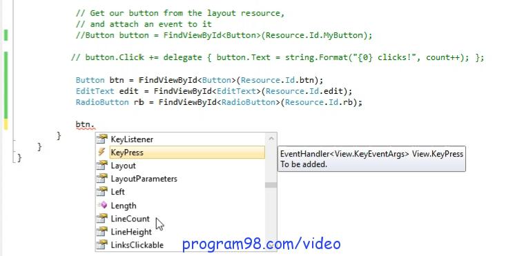 آموزش برنامه نویسی اندروید با c# | رویداد ها در برنامه نویسی ...آموزش برنامه نویسی اندروید با سی شارپ رویداد ها در زامارین