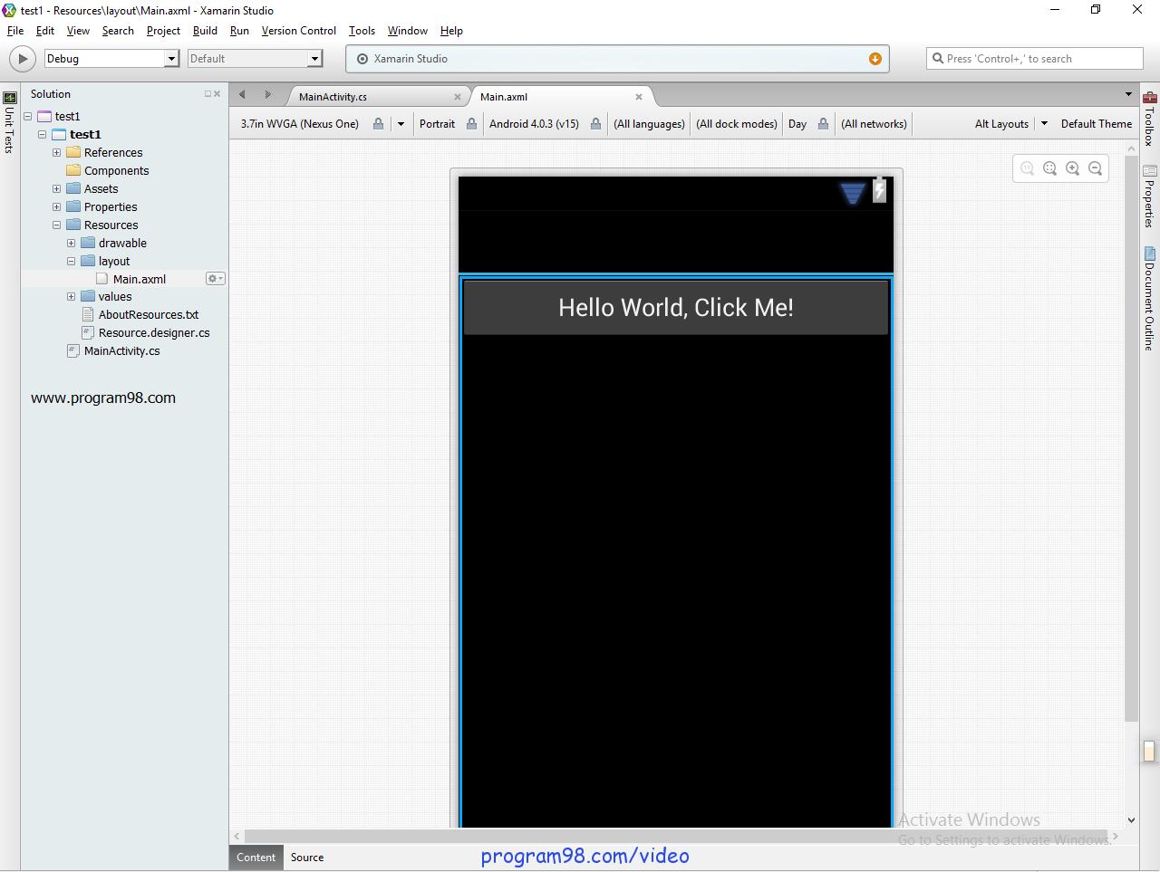برنامه نویسی اندروید با ویژوال استودیو 2015 - برنامه نویسی اندروید ...... Studio Screenshot 1 برنامه نویسی اندروید در سی شارپ - برنامه نویسی اندروید|برنامه .