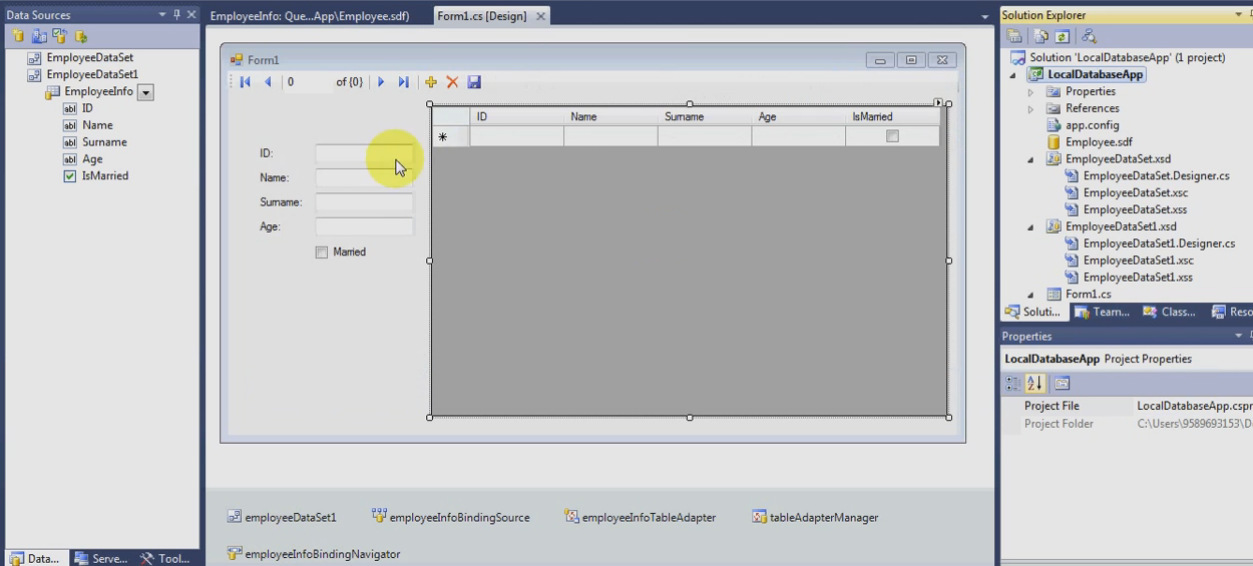 آموزش اتصال به دیتابیس SQL Server در سی شارپ c#.net